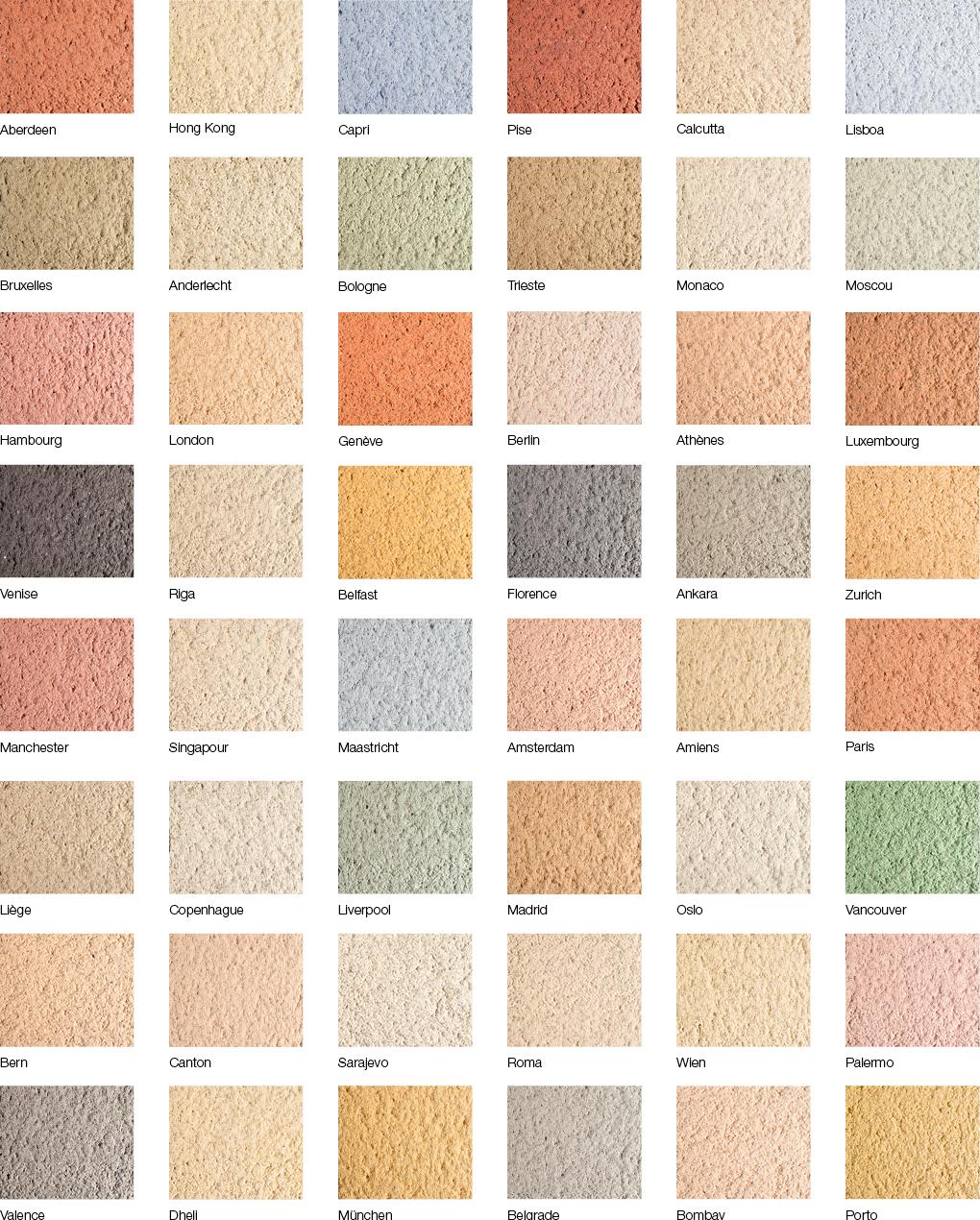 Nuancier couleur facade maison
